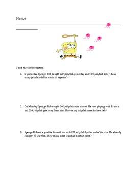 Spongebob Word Problems