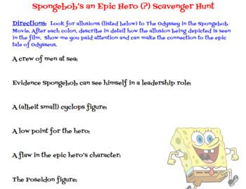 Spongebob's an Epic Hero?