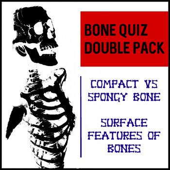 Bone Quiz double pack- Spongy vs Compact Bone; Surface Fea