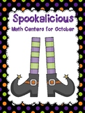 SPOOKALICIOUS Math Center for October (Intermediate Edition)