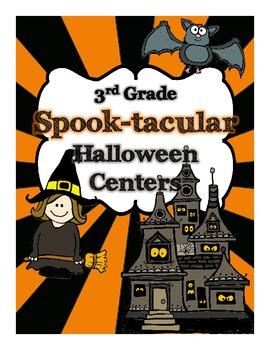 Spook-tacular 3rd grade Halloween Math & LA Centers