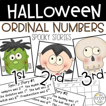 Spook-tacular Ordinal Numbers and MORE Halloween Fun!