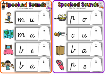 Spooked Sounds- CVC words- Missing Final Sound