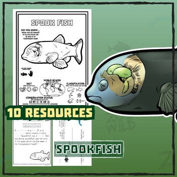 Spookfish -- 10 Resources -- Coloring Pages, Reading & Activities