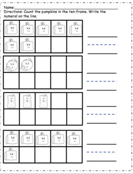 Spookley Common Core Math Centers and Activities
