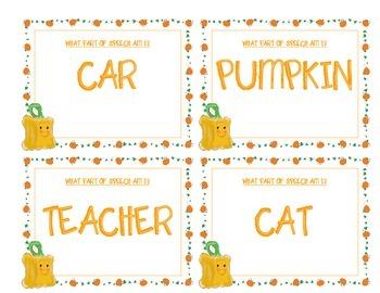 Spookley noun and verb sort game