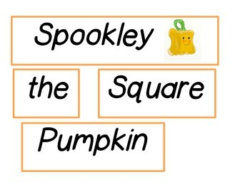 Spookley the Square Pumpkin Activities