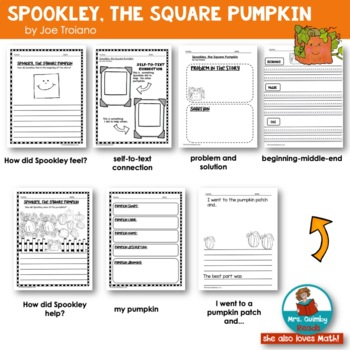 Spookley, the Square Pumpkin | Book Companion | Reader Response Pages