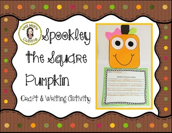 Spookley the Square Pumpkin Craft and Writing Activity