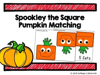 Spookley the Square Pumpkin Matching