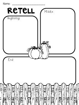Spookley the Square Pumpkin Story Elements Freebie