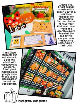 Spookley the Square Pumpkin Writing Craftivity