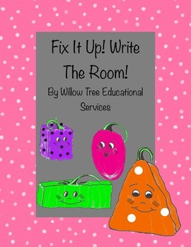 Fix It Up! Write-The-Room! Spookley Themed