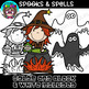 Spooks & Spells Clipart {Scrappin Doodles Clipart}