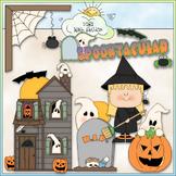 Spooktacular Clip Art - Halloween Clip Art - Trick or Trea
