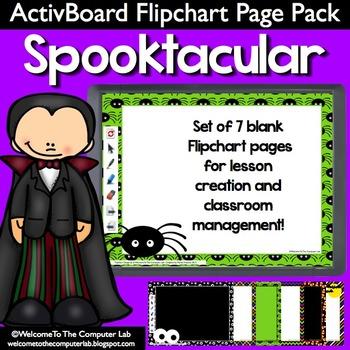 Spooktacular ActivBoard Flipchart Page Pack