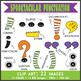 Spooktacular Alphabet (Lowercase + Punctuations)