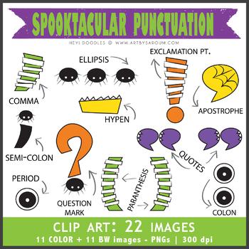 Spooktacular Alphabet (Uppercase + Punctuations)