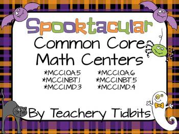 Spooktacular Common Core Math Centers