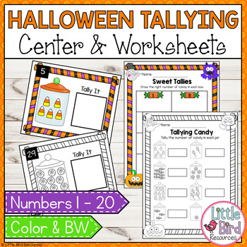 Spooktacular Count and Tally Cards and Worksheet Set