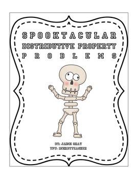 Spooktacular Distributive Property Worksheet