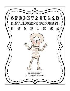 Spooktacular Distributive Property Worksheet