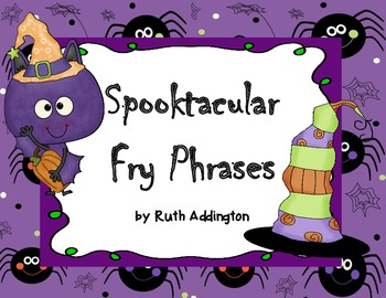 Spooktacular Fry Phrases for Reading Street