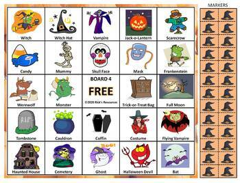 Halloween Math Language Bingo Bundle