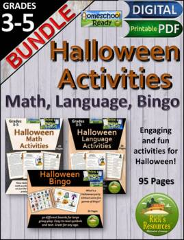 Halloween Math Language Bingo Activities