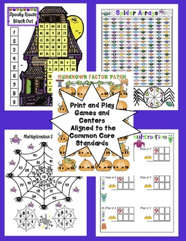 Halloween Math - 3rd Grade Activities