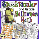 3rd Grade Halloween Math Activities - 3rd Grade  Math Games and Centers