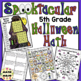 5th Grade Halloween Math Activities - 5th Grade Math Games and Centers