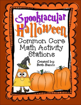 Spooktacular Halloween Math Activity Stations - Common Core Aligned