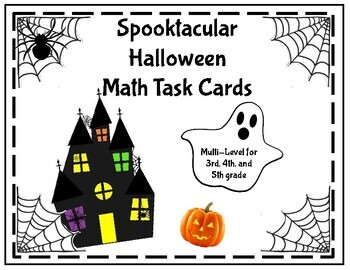 Spooktacular Halloween Math Task Cards
