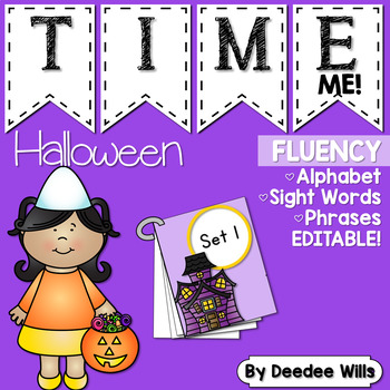 Dolch Word Fluency:  Time Me!  Halloween
