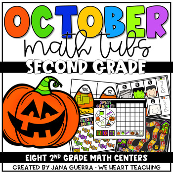 October Math Centers: SECOND Grade