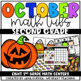 October Math Centers: SECOND Grade
