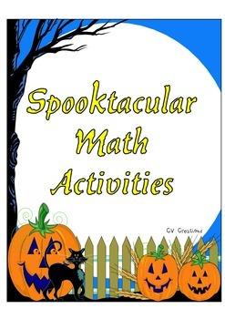 Spooktacular Math Activities and Center Games