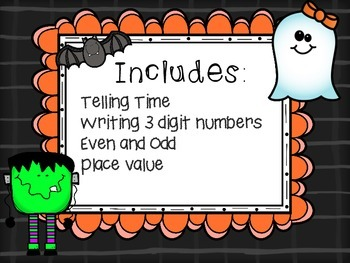 Spooktacular Math Center Bundle: 2nd Gr CCSS aligned