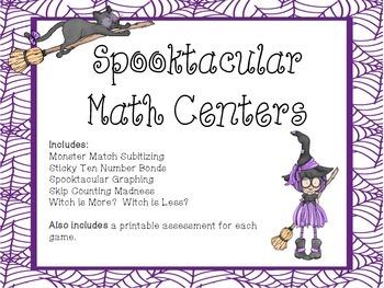 Spooktacular Math Centers - Halloweeen