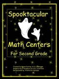 Spooktacular Math Centers/Task Cards for Second Grade