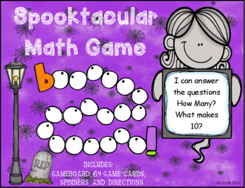 Spooktacular Math Game ~ How Many? What Makes 10?