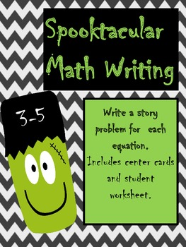 Spooktacular Math Writing 3-5