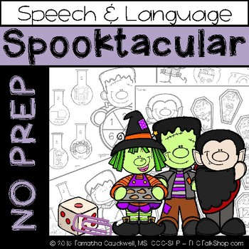 Spooktacular: No Prep Speech and Language