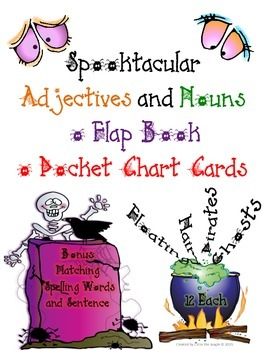 Halloween Nouns and Adjectives Flap Book or Center
