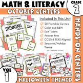 Math/ELA Stations 2nd Grade--October Stations