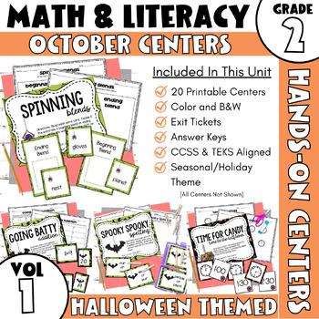 October Centers: Second Grade Math and ELA