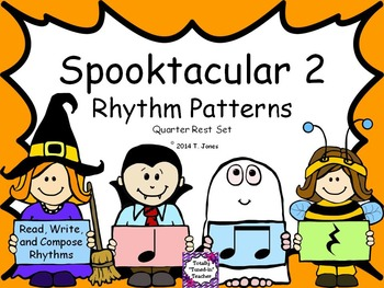 Spooktacular Rhythm Patterns 2 - Quarter REST Notes Set