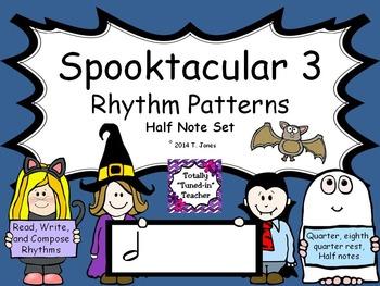 Spooktacular Rhythm Patterns 3 {HALF NOTE Set}