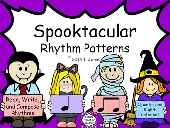 Spooktacular Rhythm Patterns - Quarter-Eighth Notes Set